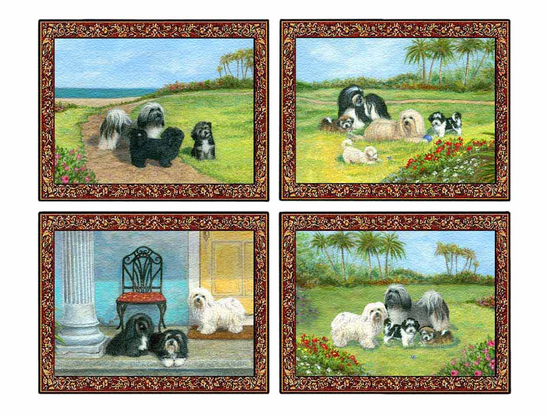 Havanese Tapestry Placemat Set of Four