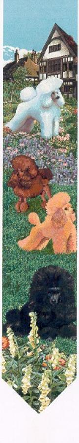 Poodle 1 Tapestry Bell Pull