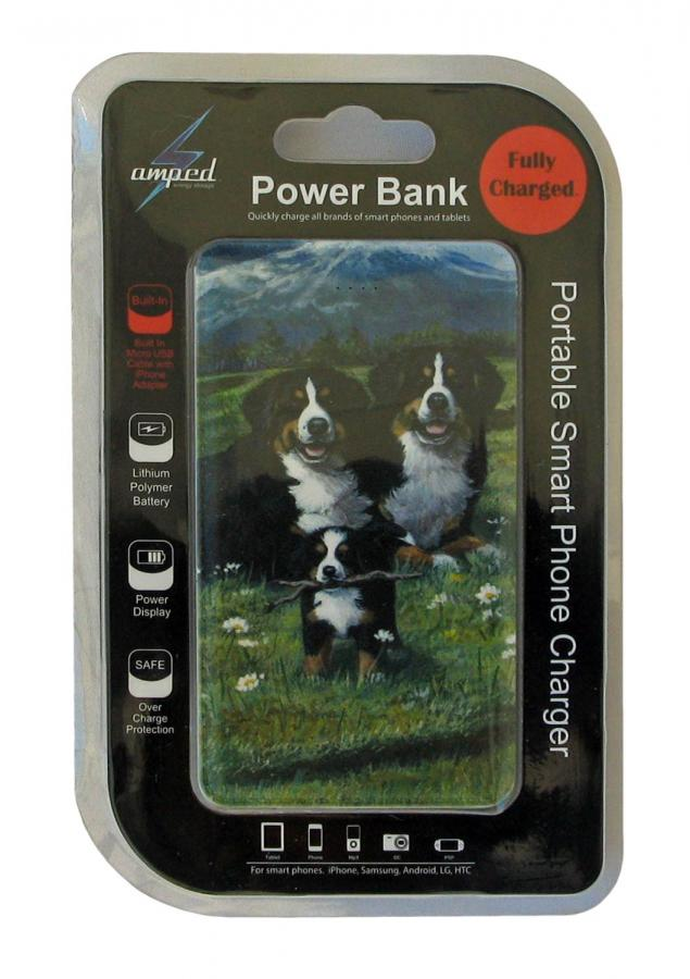 Bernese mt dog power bank 4 package
