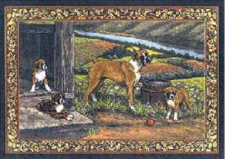 Boxer 2 Single Tapestry Placemat