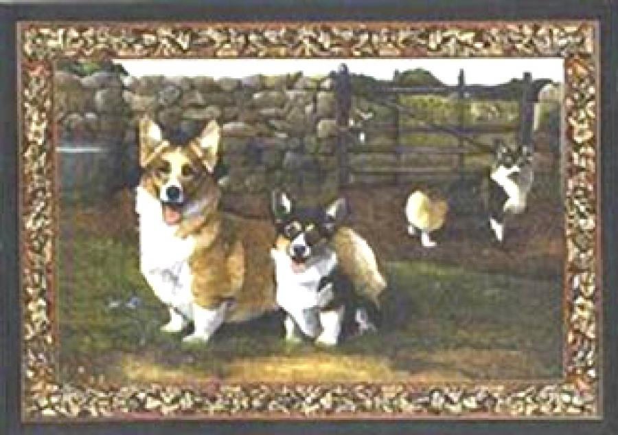 Corgi Tapestry Placemat #1 Single
