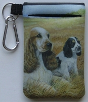 English Cocker Spaniel Picture Cell Phone Holder 2A