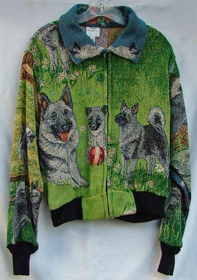 Norwegian Elkhound Baseball Jacket 1A