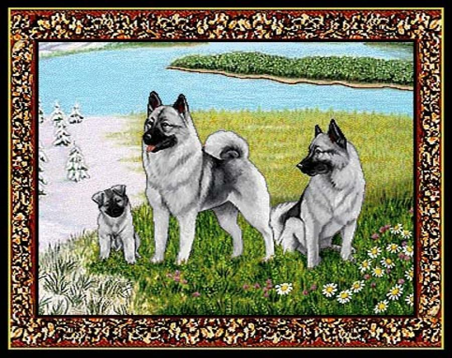Norwegian Elkhound 2 Single Tapestry Placemat