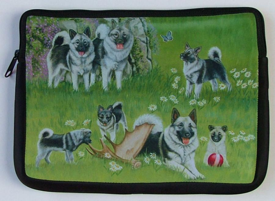 Elkhound Picture Netbook Sleeve #5