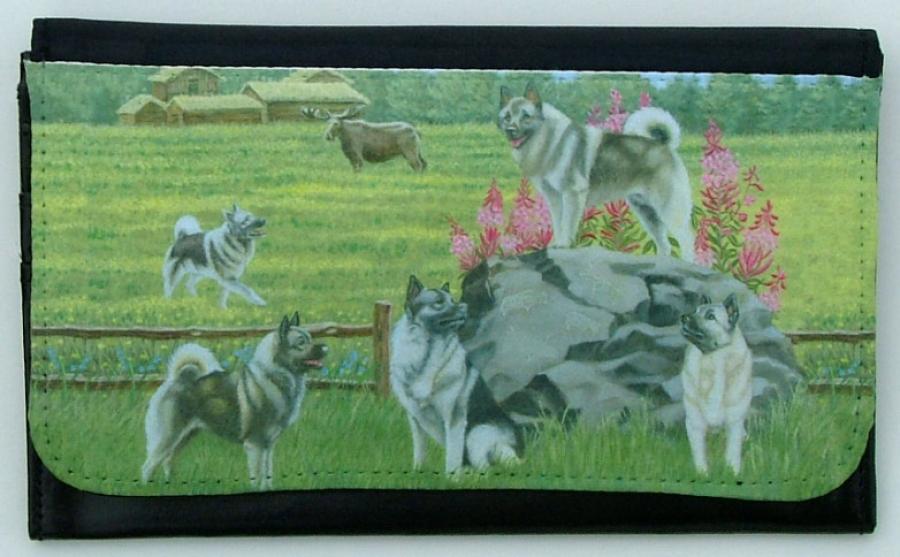 Norwegian Elkhound Picture Wallet #6