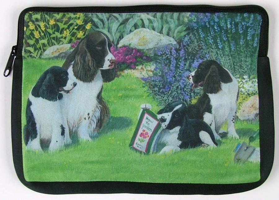 English Springer Picture Netbook Sleeve #1