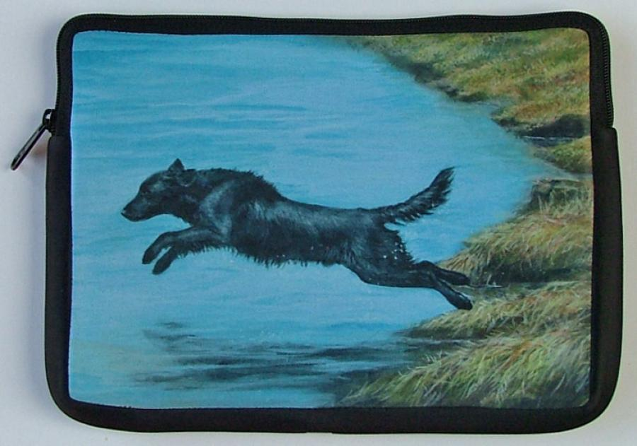 Flat-Coated Retriever Picture Netbook Sleeve #5