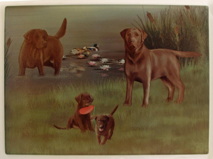 chocolate lab cutting board 3