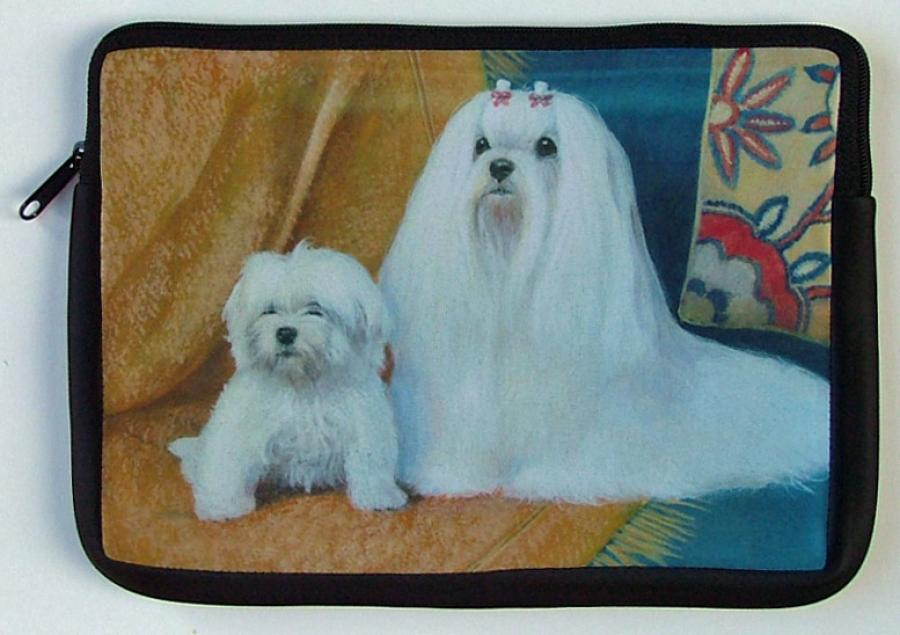 Maltese Picture Netbook Sleeve #1