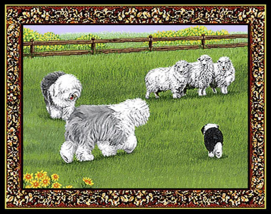 Old English Sheepdog Single Tapestry Placemat #3
