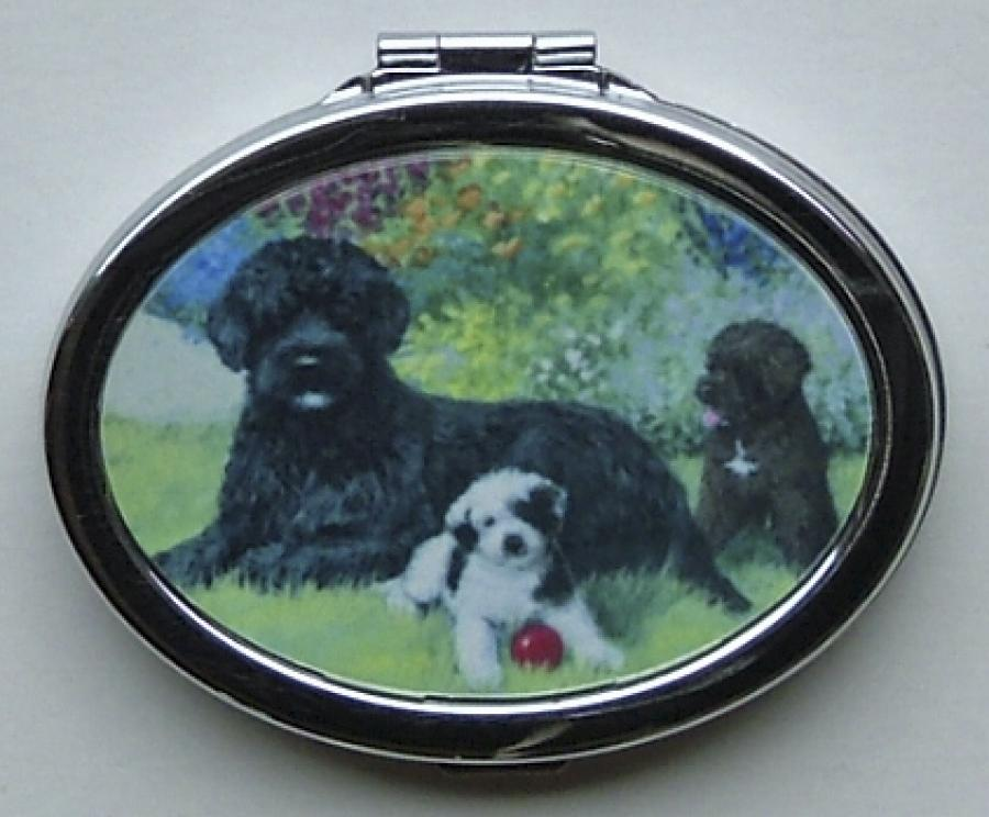 Portuguese Water Dog Picture Oval Compact Mirror #4B