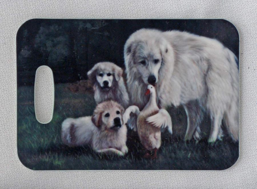 Great Pyrenees bag tag #2