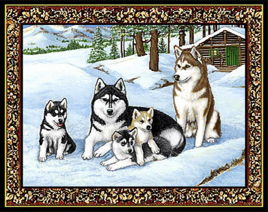 Siberian Husky 3 Single Tapestry Placemat