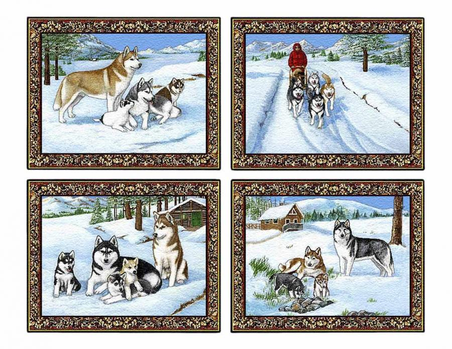 Husky placemat set