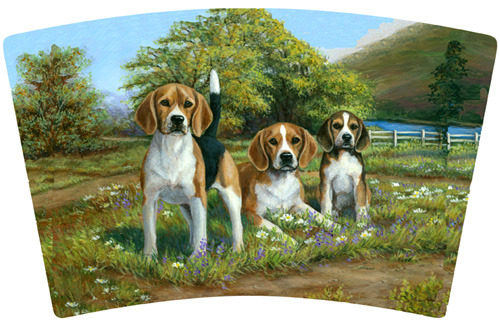 Beagle mug artwork