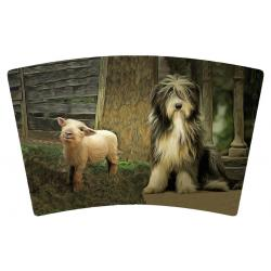 Bearded collie 6 artwork cover