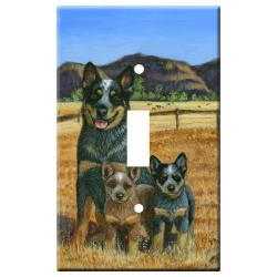 Australian Cattle Dog 1A Single Lightswitch Plate