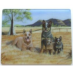 Australian Cattle Dog 1 Tempered Glass Cutting Board
