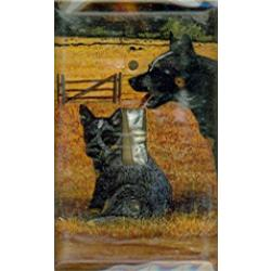 Australian Cattle Dog 2A Single Light Swtich Plate