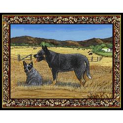 Australian Cattle Dog Tapestry Placemat #2 - Single