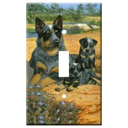 Australian Cattle Dog 3A Single Light Switch Plate