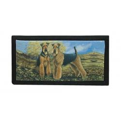 Airedale checkbook cover 1