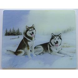 Alaskan Malamute 1 Tempered Glass Cutting Board