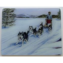 Alaska Malamute 2 Tempered Glass Cutting Board