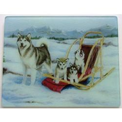 Alaskan Malamute 3 Tempered Glass Cutting Board