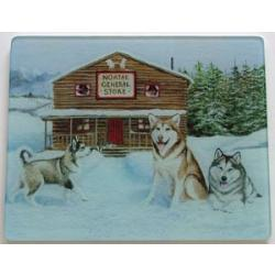 Alaskan Malamute 4 Tempered Glass Cutting Board