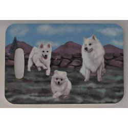American eskimo dog bag tag 2