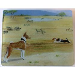Basenji 2 Tempered Glass Cutting Board