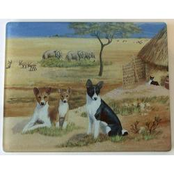 Basenji 3 Tempered Glass Cutting Board