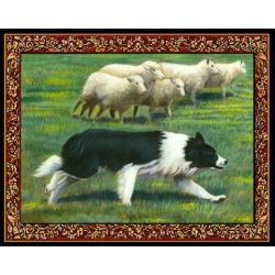 Border Collie Tapestry Placemat #1 - Single