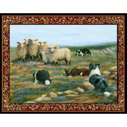 Border Collie Tapestry Placemat #4 - Single