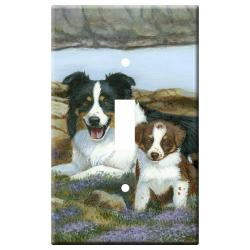 Border Collie Picture Single Light Switch Plate #5A