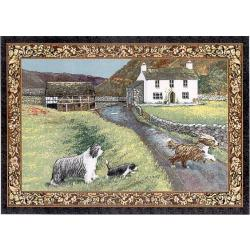 Bearded Collie Tapestry Placemat #1