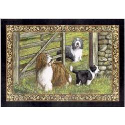 Bearded Collie Tapestry Placemat #4