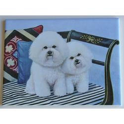 Bichon Frise #1-6X8 Ceramic Picture Tile