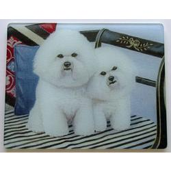 Bichon Frise 1 Tempered Glass Cutting Board