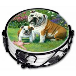 Bulldog coaster set