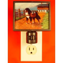 Bernese Mt. Dog 2 Night Light