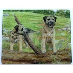 Border Terrier 1 Tempered Glass Cutting Board