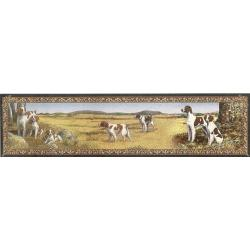 Brittany Spaniel Tapestry Table Runner