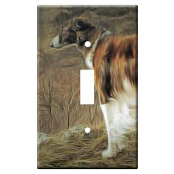 Borzoi Picture 9A Single Light Switch Plate