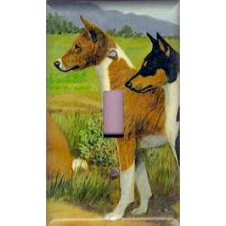 Basenji 4B Single Light Switch Plate