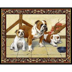 Bulldog 1 Single Tapestry Placemat