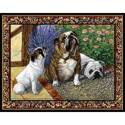 Bulldog 2 Single Tapestry Placemat