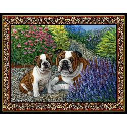 Bulldog 3 Single Tapestry Placemat